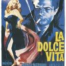 LA DOLCE VITA Movie Poster 24x36 Fellini Mastroianni Anita Ekberg Anouk Aimee Sexy Italian