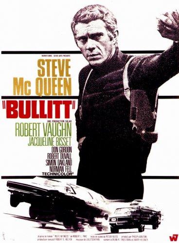 BULLITT Poster 27x40 Steve McQueen Classic Movie Poster