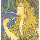 JOB Cigarette Paper Poster Ad 24x36 Alphonse Mucha