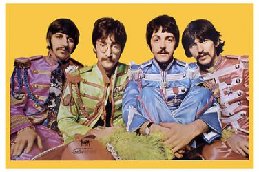 The Beatles Sgt. Pepper's Lonely Hearts Club Band Poster 12x18 Sgt. Pepper OOP