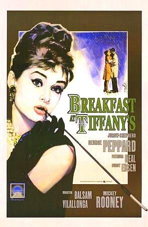 Breakfast at Tiffany's Poster 23x35 Audrey Hepburn RARE Holly Golightly LBD