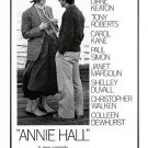 Annie Hall Poster 27x40 inches Woody Allen Diane Keaton RARE