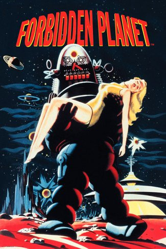 Forbidden Planet Poster 24x36 Robby the Robot