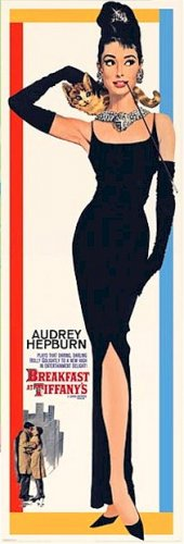 Breakfast at Tiffany's Poster 21x62 Door Size Audrey Hepburn Holly Golightly RARE