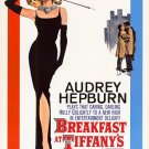 Breakfast at Tiffany's Poster 24x36 Audrey Hepburn RARE Holly Golightly LBD Little Black Dress