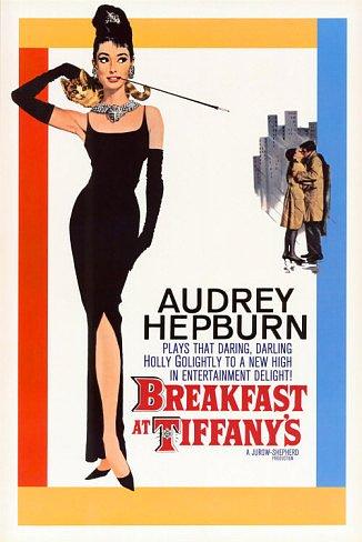 Breakfast at Tiffany's Poster 24x36 Audrey Hepburn RARE Holly Golightly LBD Little Black Dress
