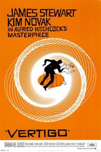 Vertigo Poster 24x36 Alfred Hitchcock Jimmy Stewart Bass Kim Novak Saul Bass James Movie