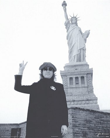 John Lennon Poster 24x36 New York City Statue of Liberty The Beatles 1974