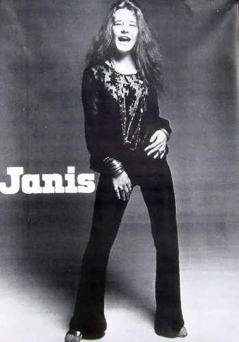 Janis Joplin Poster 23 1/2 X 33 inches Sexy Pearl Rare OOP