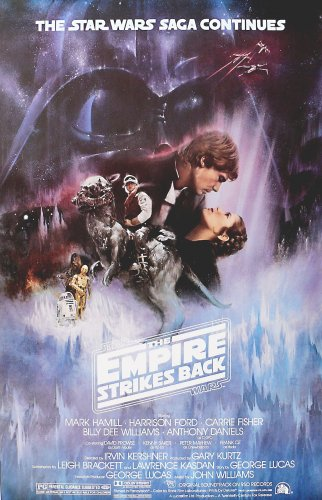 Empire Strikes Back Movie Poster 27x40 Theatrical Release The Star Wars Saga