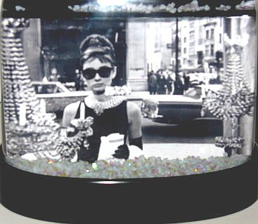 Breakfast at Tiffany's Snowglobe Holly Golightly Snow Globe