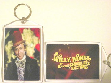 Willy Wonka & the Chocolate Factory keychain Key Chain Gene Wilder RARE