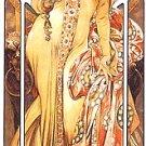 Moet Chandon Cremant Imperial Poster 12x36 Alphonse Mucha Art Nouveau