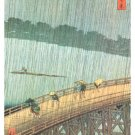 Great Bridge, Sudden Shower at Atake Poster 24x36 Utagawa Ando Hiroshige Vincent Van Gogh