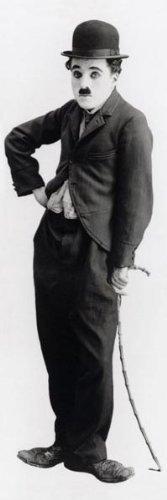 Charlie Chaplin Poster 22X61 The Little Tramp cane City Lights Modern Times Cat Stevens