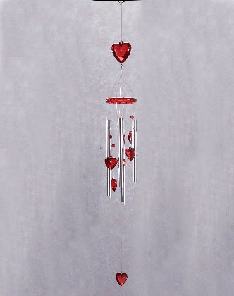 Arcylic Hearts Wind Chimes