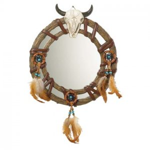 Alab Bull Skull Head Mirror