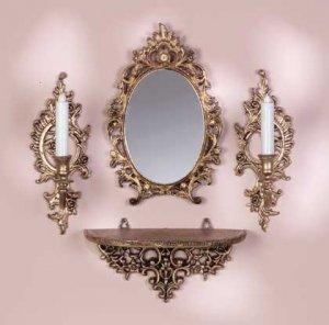 Baroque Period MirrorSconceShelf