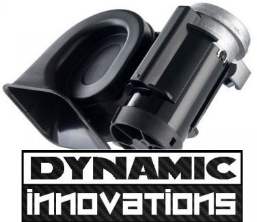 Motorcycle Compact Twin Air Horn - Black