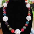Agate, Crackle Quartz Beaded Necklace
