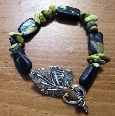 Yellow Turquoise Leaf bracelet