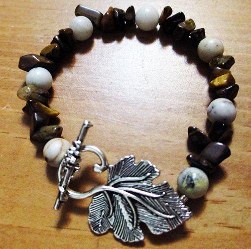 Sesame Serpentine & Tigers Eye Bracelet