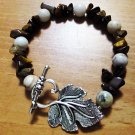 Sesame Serpentine & Tigers Eye Bracelet
