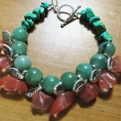 Cherry Quartz & Aventurine Bracelet