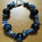 Sodalite & Pottery Bracelet