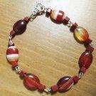 Red Line Agate & Red Jasper Bracelet
