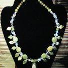 Opalite, Serpentine, Green Jasper & Green Picasso Jasper & Pink Leopard Jasper Necklace