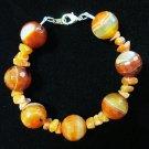 Onyx & Red Aventurine Bracelet