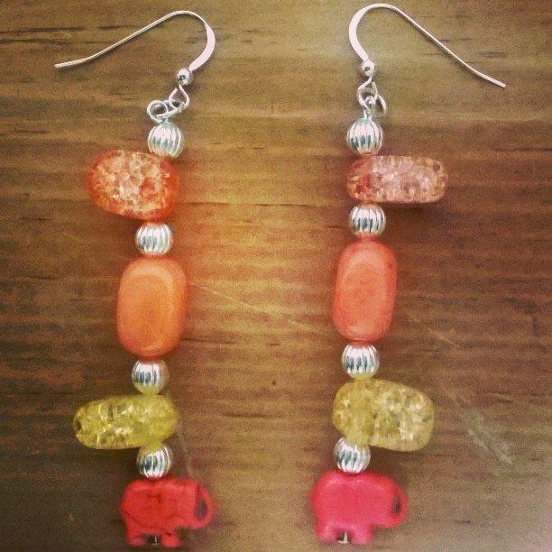 Crystal Elephant earrings