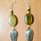 Tigeres Eye Crystal Wings earrings