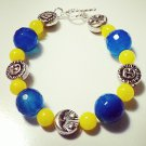 Moon & Sun Quartzite & Agate Crystal Bracelet