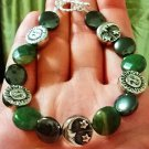 Sun & Moon Indian Agate & Hematite Crystal Bracelet