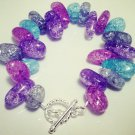 Multi Color Crackle Quartz Crystal Bracelet