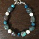 River Pearl ,Quartzite Bracelet