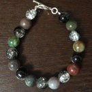 Agate And Glass bead Bracelet