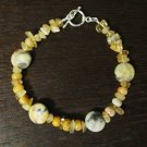 Crazy Agate and Citrine Bracelet