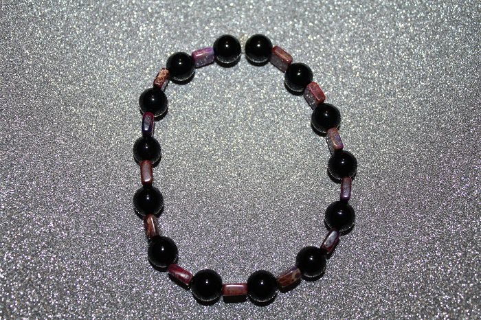 Black jasper and dyed jasper
