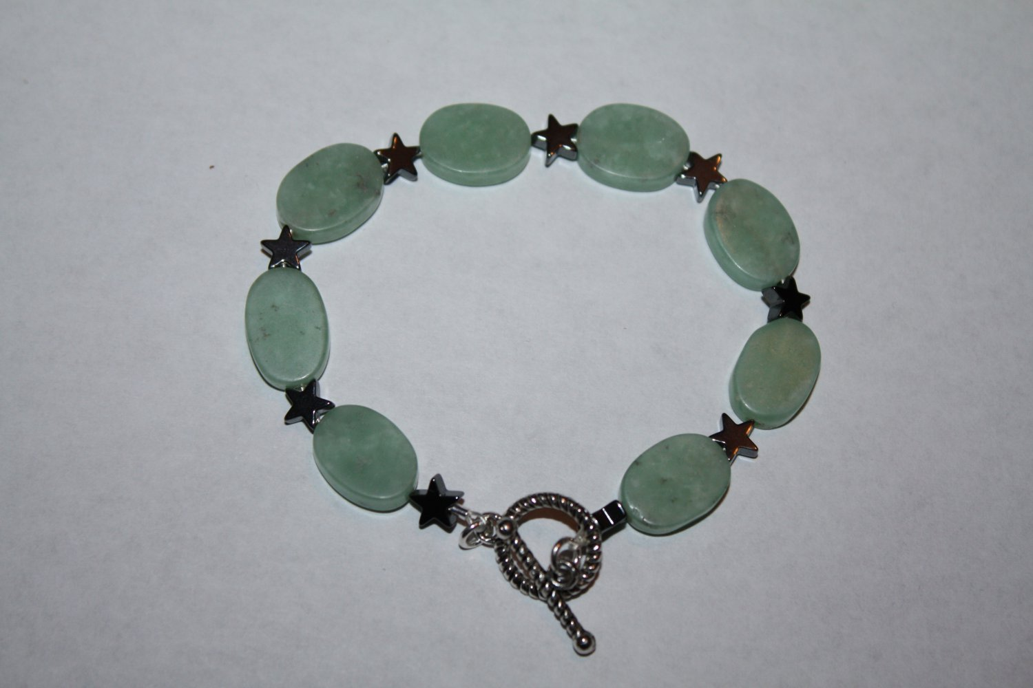 Amzonite and Star Hematite Bracelet