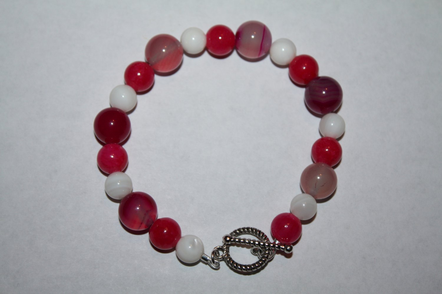 Fresh water Pearls , Pink Quartzite and pink Agate