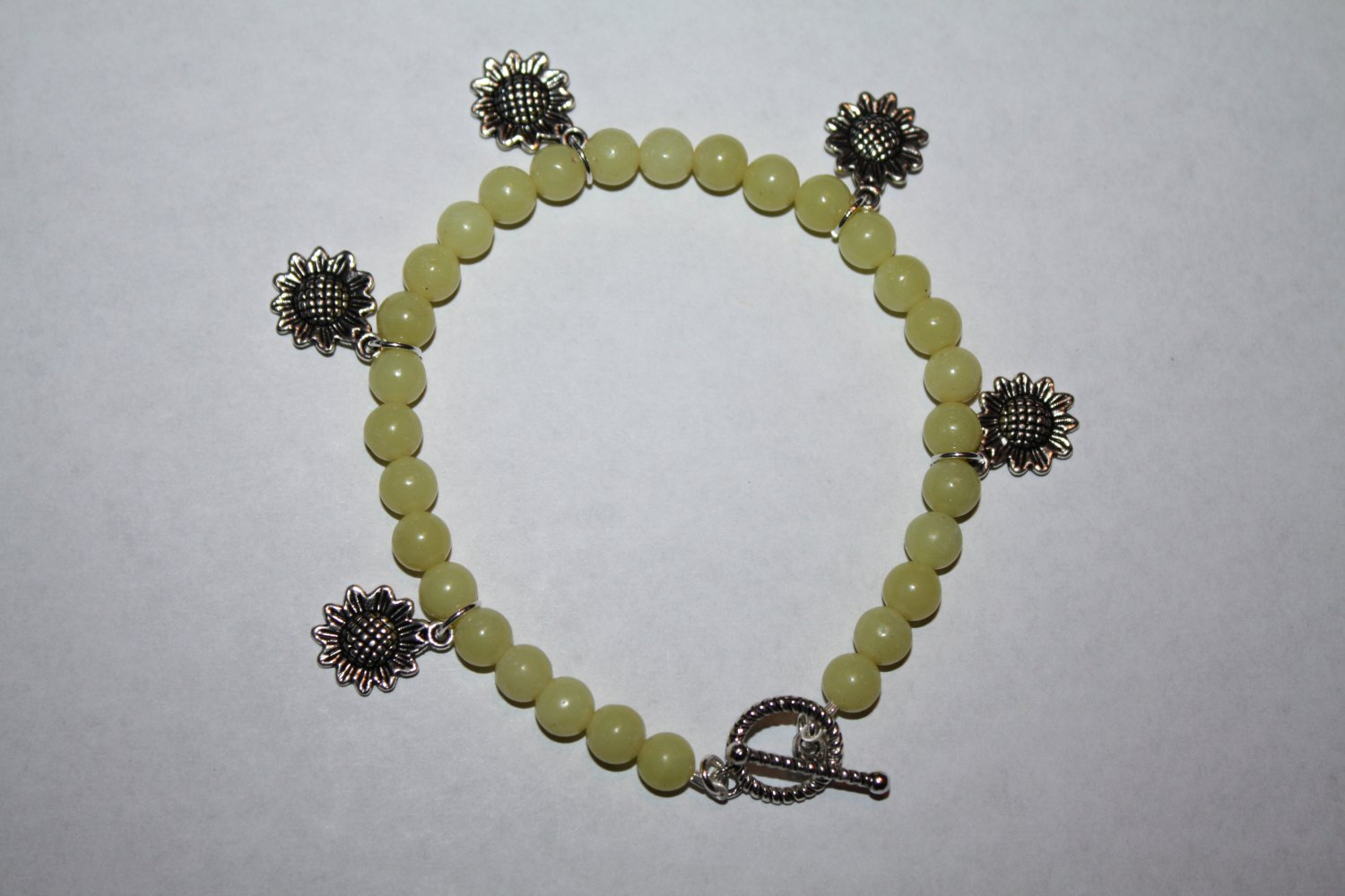 Sun flower Yellow Jasper Bracelet