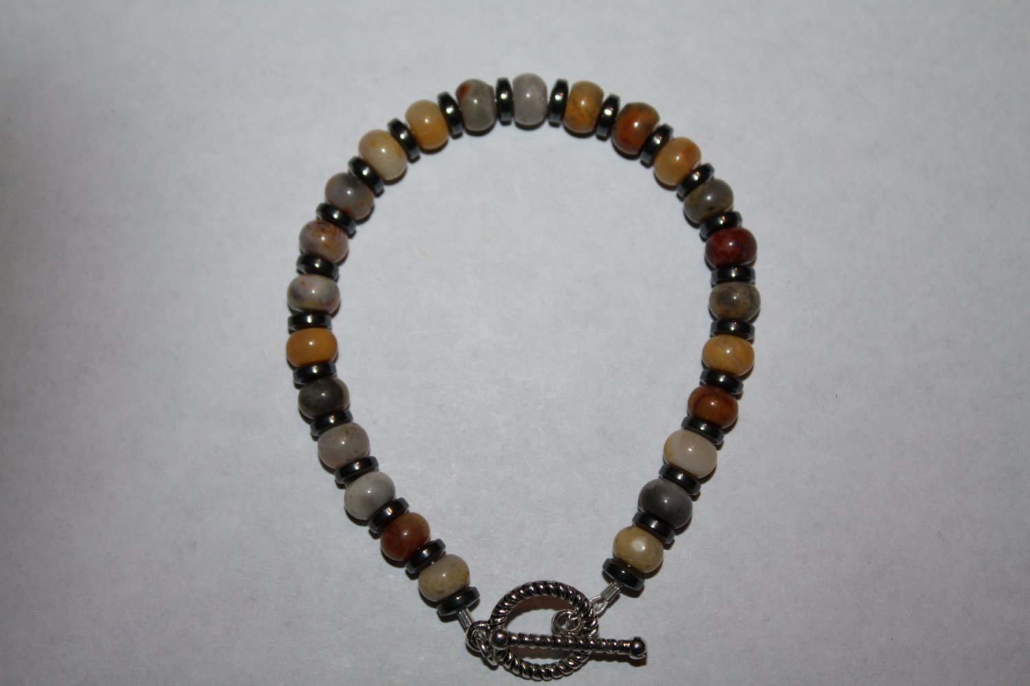 Crazy Agate and hematite Bracelet