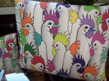 Chicken Pop Art Pillow Case