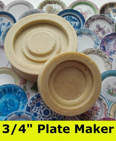 "Dollhouse Plate Maker 3/4"" 1/12th Scale Custom China Plate Maker"