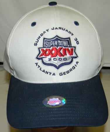 new tags nfl football super bowl 34 2000 atlanta ga snap back adult hat