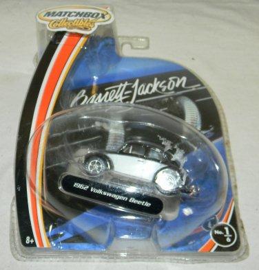 vintage 2003 Matchbox Barrett Jackson 1962 Volkswagen Beetle Black/White car