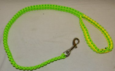 new hand made in the usa paracord para cord yellow green masters dog leash 550